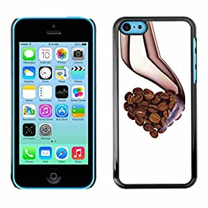 Shell-Star ( Cool Love Coffee Beans Aroma Heart ) Fundas Cover Cubre Hard Case Cover para Apple iPhone 5C