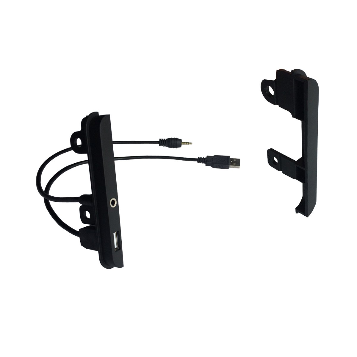 DKMUS Dash Kit for Toyota and Scion Vehicles Universal Brackets Double Din Installation Trim Bezel (with AUX & USB)