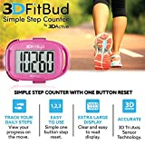 3DFitBud Simple Step Counter Walking 3D Pedometer