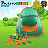 Best Walkie Talkies Watches - PicassoTiles PTC20 20 Piece Camping Gear Tools Adventure Review