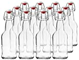 CASE OF 12 - 16 oz. EZ Cap Beer Bottles - CLEAR