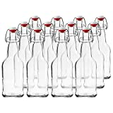 Home Brew Ohio T5-0DR0-Q601 EZ Cap Beer Bottles, 16 oz, Clear (Pack of 12)
