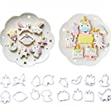 16 Pack Mini Fantasy Unicorn Cookie Biscuit Fondant Cake Mold?Unicorn Cookie Cutter Fondant Mold Set - Fondant Cupcake, cake decorating in magic unicorn or fantastic unicorn theme parties
