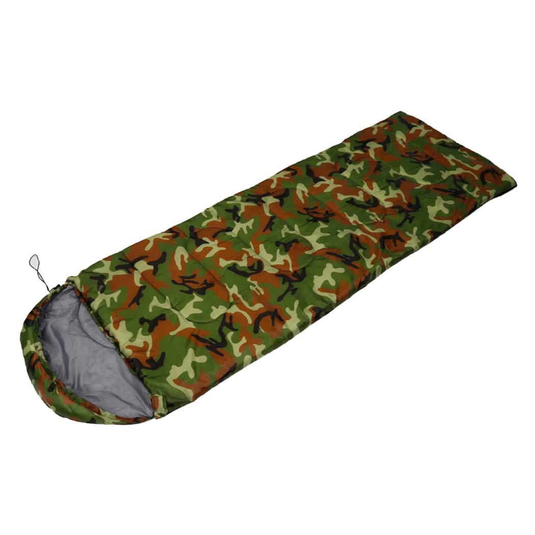 Busta sacco a pelo-adulto singolo 3 4 stagione Sleeping Bag e bambini sacco a pelo per campeggio all'aperto-leggero, compatto, impermeabile, confortevole e caldo sonno,camouflage,(190+30)75cm