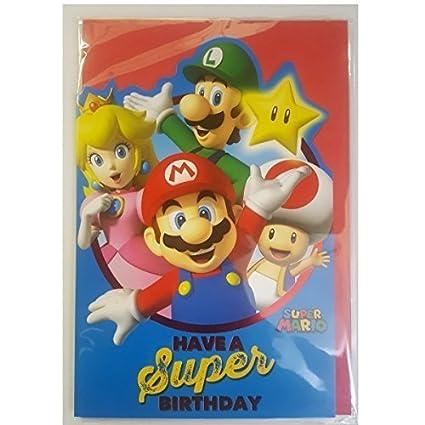 Amazon Super Mario Birthday Card By Super Mario Toys Games