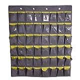 JIAHG Over Door Hanger Wall Door Hanging Storage Wardrobe Organizer Shoes Underwear Socks Organizer Home Sundry Daily Supplies Storage Pouch with 30 Pockets (gray(45 Pockets))