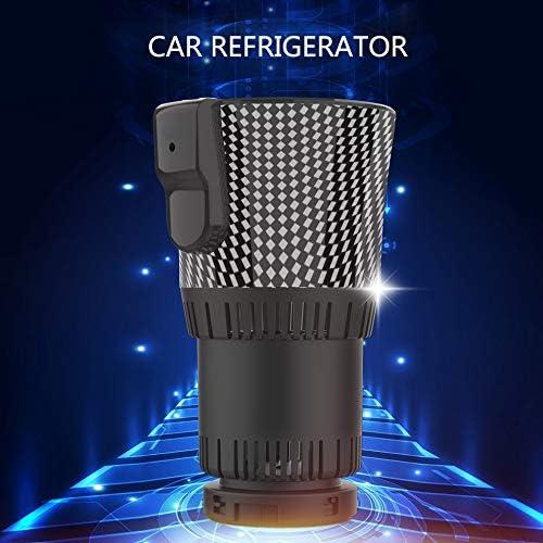 Monland ツーインワン スマートカーカップウォーマーおよびクーラー、12V3A電動コーヒーウォーマー、飲料冷却および自動車用トリップヒーターカップ