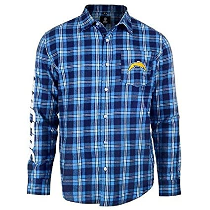 Amazon.com   FOCO NFL Mens Wordmark Flannel Shirt   Sports   Outdoors afd05b81a