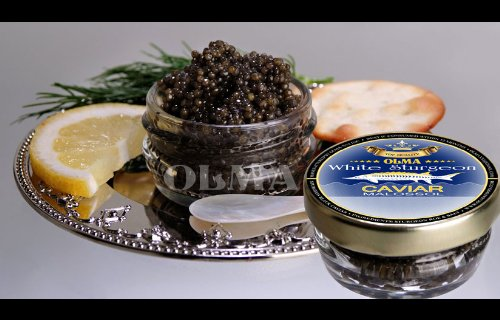- OLMA Black Caviar White Sturgeon 2 oz (56g) Glass Jar