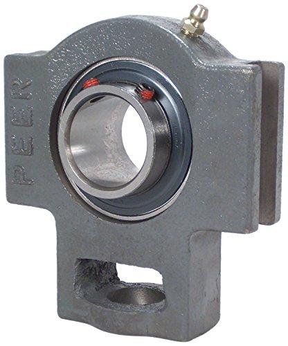 Peer Bearing UCT205-16-17/32 Cast Iron Take Up Unit, Wide Inner Ring, Relubricable, Set Screw Locking Collar, Single Lip Seal, 1' Bore, 17/32' Slot Width