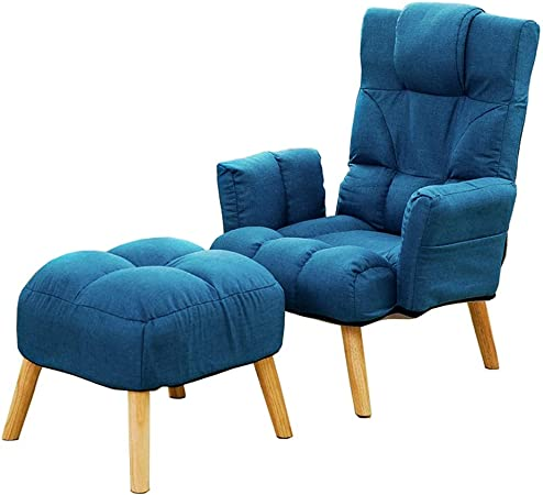 Tumbona Plegable Silla del Comedor sillas reclinables sofá Silla del Ocio Sillón Respaldo Patio Jardín Tumbona Sala de Estar Dormitorio balcón Silla de Siesta (Color : Blue): Amazon.es: Hogar