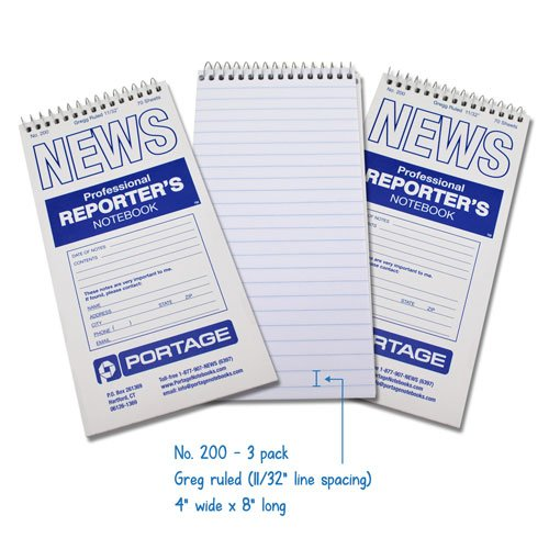 Reporters Notebook  Gregg Ruled  70 Sheets   4  X 8    3 Pack