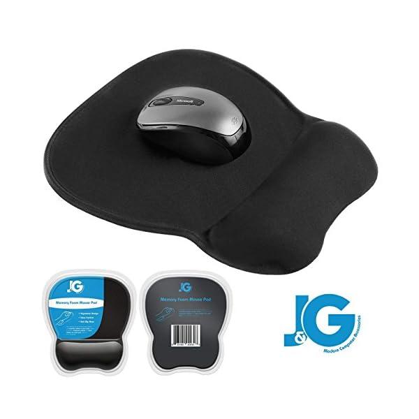 Ergonomic Mouse Pad with Wrist Rest Support, Black | Eliminates All Pains, Carpal...