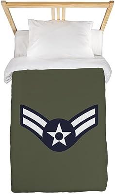 CafePress USAF: A1C E-3 (Green) Twin Duvet Cover, Printed Comforter Cover, Unique Bedding, Microfiber