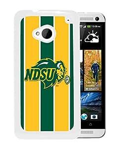 NCAA North Dakota 6 White Customize HTC ONE M7 Phone Cover Case