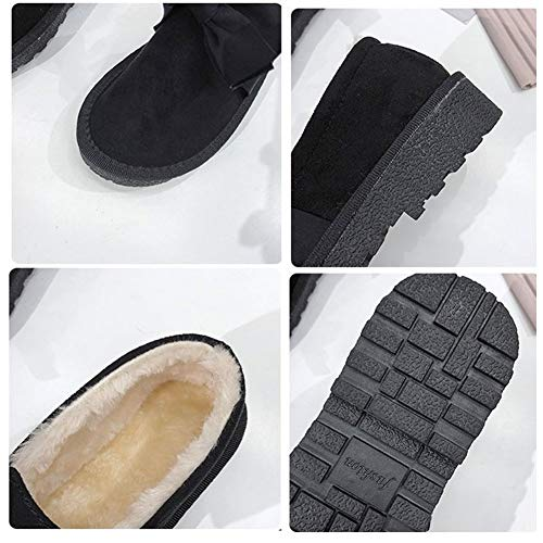 En Et Nœud Hiver Avec Pour Sport Tout Confortables Femmes Antidérapant Chaudes Plates De Velours 02 Plus Chaussures q1wH8H