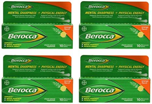 - Berocca Orange Effervescent Tablets 10-Count (Pack of 4)