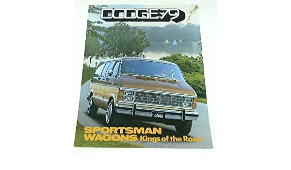 Amazon com: 1979 79 Dodge SPORTSMAN WAGON Van BROCHURE