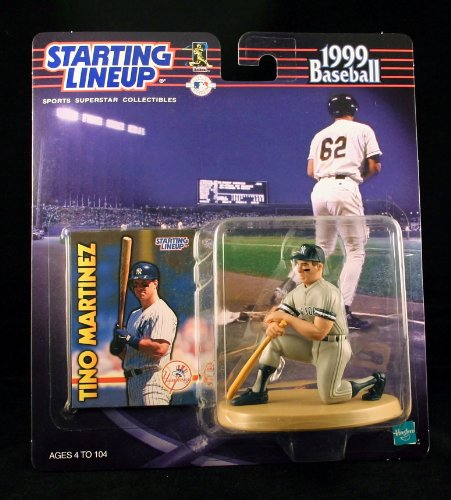 (TINO MARTINEZ / NEW YORK YANKEES 1999 MLB Starting Lineup Action Figure & Exclusive Collector Trading Card)