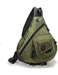 DDDH 15.6 Sling Bags Laptop Crossbody Backpack Chest Shoulder Pack School Book Bag for Men Outdoor Hiking Bike