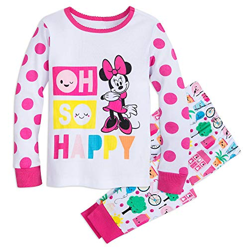 Disney Minnie Mouse Oh So Happy Pajama Set for Girls Size 7 Multi