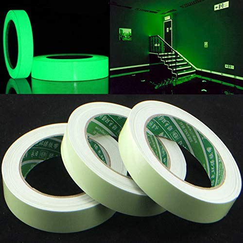 3m Luminous Sticker Bike Home Decoration Warning Tape Roll Adhesive Glow In The Dark Fluorescent - Wall Stickers -