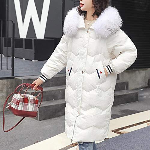 Outwear En Blanc Veste Épais Blouson Manteau Capuche Manteaux Hiver Long Matelassé Oldhorse À Coton Parka Chaud Jacket Rembourré Femme Fourrure Lâche RqUnzB