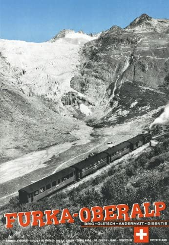 TA46 Vintage Swiss Switzerland Furka-Oberalp RailwaysTravel Poster A4