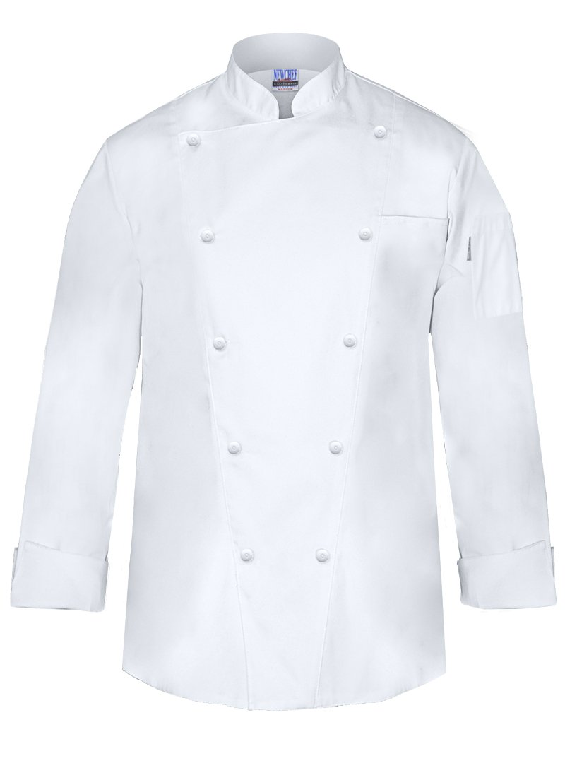 Newchef Fashion Marquis Chef Coat Men's White Chef Jacket 2XL White