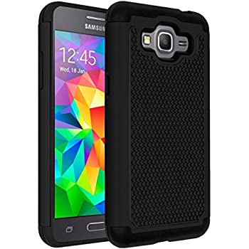 Galaxy J2 Prime Case,Galaxy Grand Prime Plus Case,ANLI(TM)[Shock Absorption] Drop Protection Hybrid Dual Layer Armor Protective Case Cover for Samsung ...