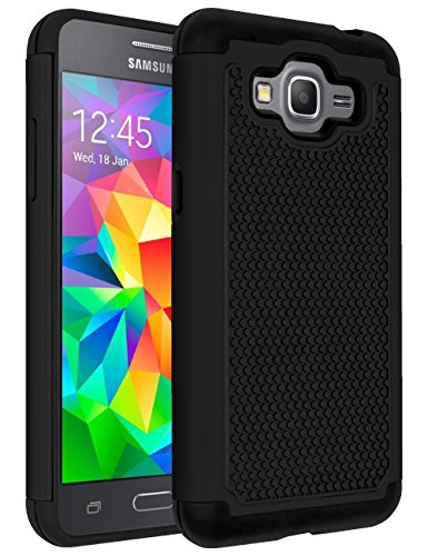 Galaxy J2 Prime Case,Galaxy Grand Prime Plus Case,ANLI(TM)[Shock Absorption] Drop Protection Hybrid Dual Layer Armor Protective Case Cover for Samsung Galaxy J2 Prime/Galaxy Grand Prime Plus Black