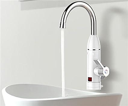 3000W Calentador De Agua Sin Tanque Pantalla De Temperatura LCD Toque Cocina De Grifo InstantáNea Calentador