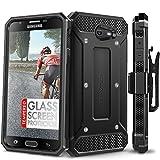 #3: Galaxy J7 Prime / Galaxy J7 V Case, Evocel [Explorer Series] with FREE [Glass Screen Protector] Premium Full Body Case [Belt Clip] For Galaxy J7 (2017) / Galaxy J7 V / J7 Perx / J7 Prime, Black