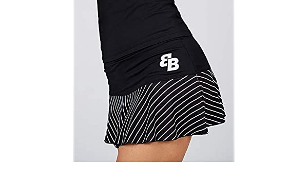 BB Falda Rayas Negra Y Blanca (XL): Amazon.es: Deportes y aire libre