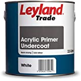 Leyland Trade Acrylic Primer Undercoat - White - 5L