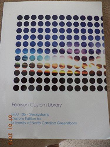 Geo 106-Geosystems Custom Edition for University of North Carolina Greensboro