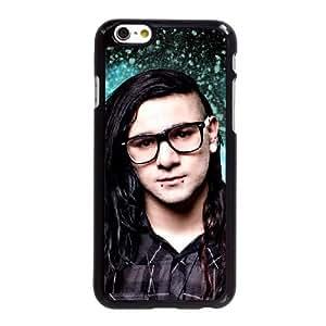 Funda iPhone 6 6S caso del teléfono celular de 4.7 pulgadas funda Skrillex Negro O8O0RX