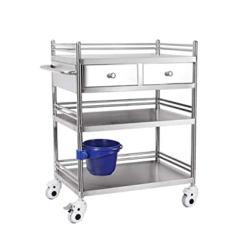 Stainless Steel Medical Trolley with Drawers,Mobile Treatment Carts, 3  Layers Medical Cart,Assemble The Surgical Hand Trucks, Rescue Vehicle  Instrument Change Vehicles,Loading Capacity 220 ibs/100: Amazon.in: Home &  Kitchen