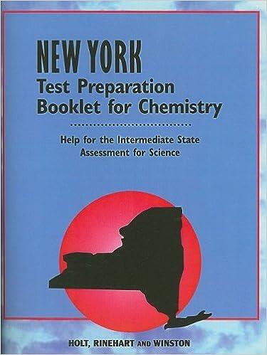Amazon com: Chemistry Test Prep Booklet Ny Grade 9: Holt