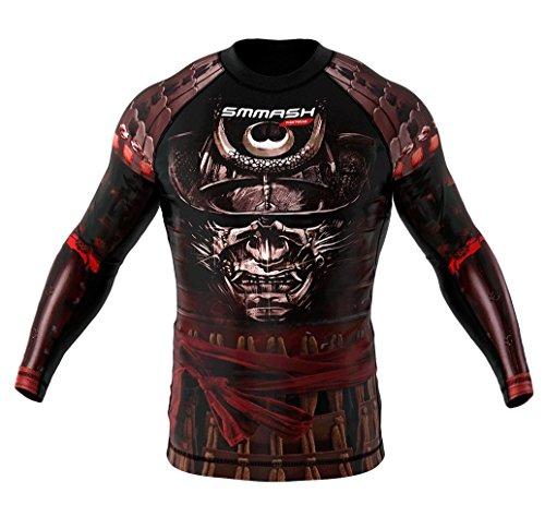 SMMASH Rashguard SAMURAI langarm MMA BJJ UFC Kampfsport - Größe XS S M L XL XXL XXXL (M)