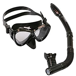 Snorkel Set , ANGGO Adults Recreation Anti-fog Film Diving Mask Snorkel Set , Tempered Glass Diving Mask and Dry Top Snorkel for Swimming and Diving