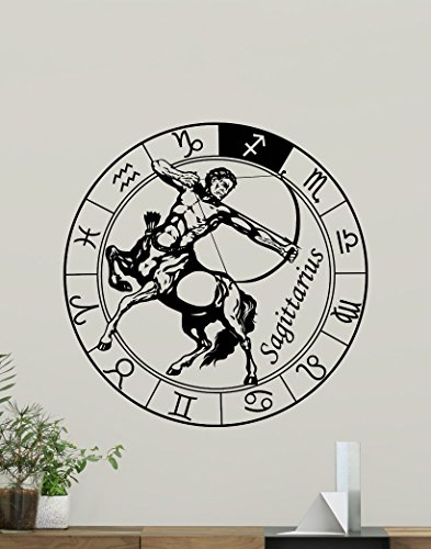 (Sagittarius Wall Decal Astrology Horoscope Sagittarius Zodiac Sign Vinyl Sticker Cool Wall Art Design Wall Decor Housewares Kids Boy Girl Room Bedroom Decor Removable Wall Mural 22hor)