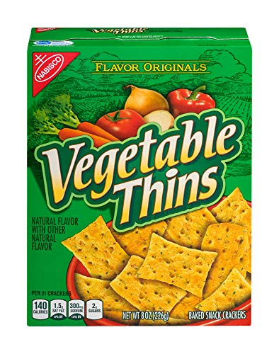Flavor Originals Vegetable Thins Baked Snack Crackers, 8 Ounce