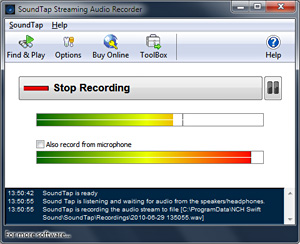 SoundTap Streaming Audio Recorder - Record Audio Playing on Your Computer  [Download]