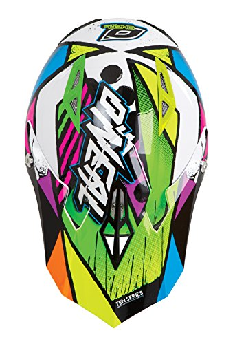ONeal 10 Series Glitch Off-Road Helmet Visor (Black/Neon,