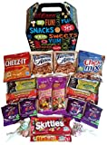 Snack Attack Care Package features fun Gift Box stuffed with savory snacks and sweet candy treats, the perfect gift for your college student, military, or co-worker.