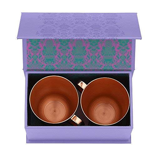 Elyx Boutique Copper Mule Cups Gift Set (set of 2) | Attach Heritage and Tradition to Your Classic Cocktail | Perfect Gift by Elyx Boutique (Image #2)
