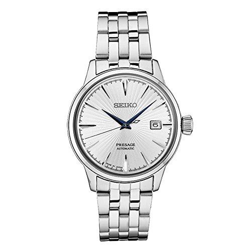 Time Mens White Dial (Seiko Men's Presage Automatic Cocktail Time White Dial Dress Watch - Model: SRPB77)