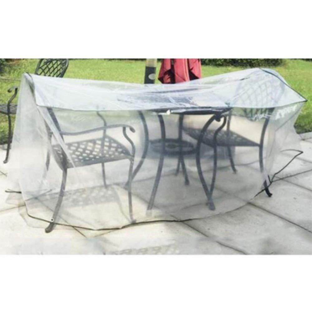Color : Clear, Size : 30x30x30cm 27 Taglie GDMING Trasparente Copertura Mobili Giardino PVC Durevole Protezione Tovaglia Vento//Pioggia//Polvere//UV Facile da Usare Addensare