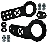 ICBEAMER Racing X-Style Pattern Anodized CNC Aluminum Tow Hook Kit Front and Rear Tow Hook with Screw [Color: Black]